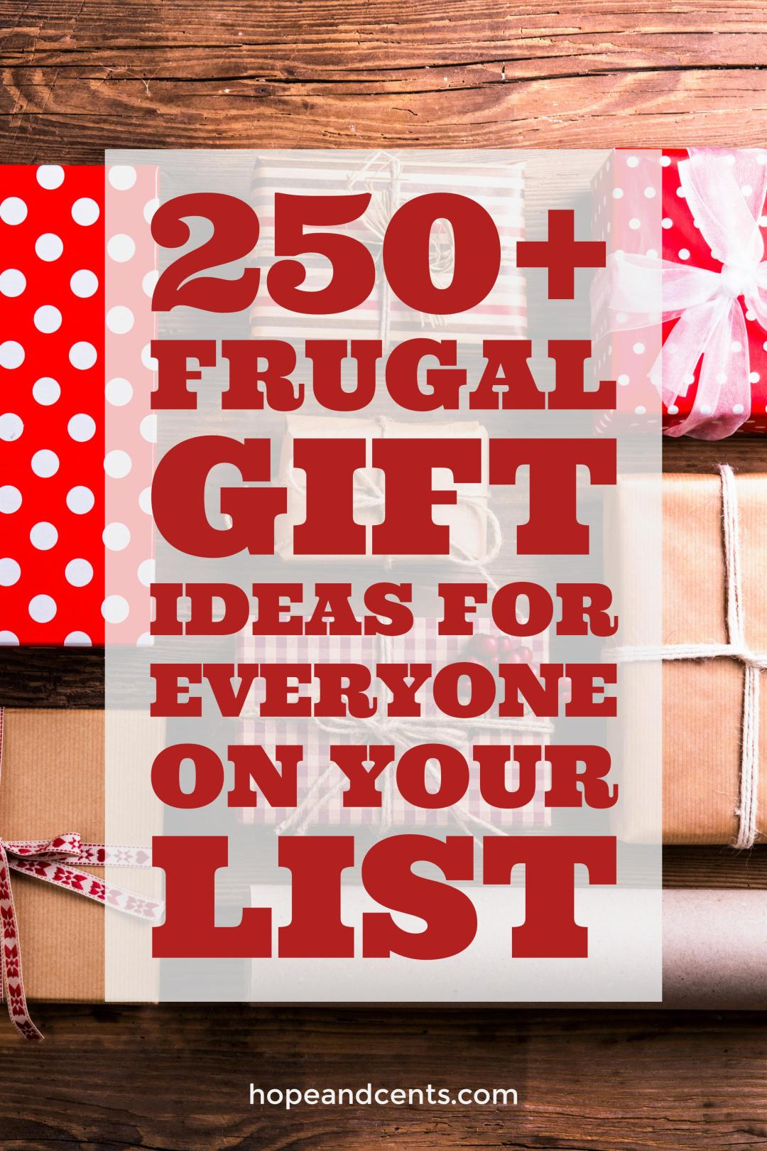 Are looking for frugal and inexpensive gift ideas for Christmas? These ideas will help you find the perfect gift and stick to your budget.