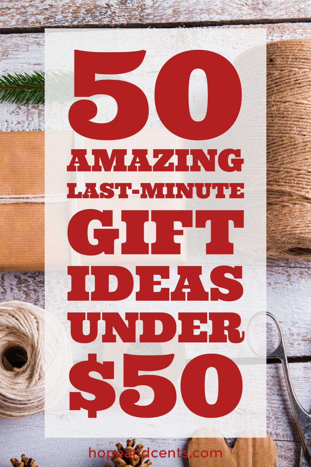 Are you looking for affordable last-minute Christmas gifts? These frugal gift ideas are under $50 and will work for everyone on your list.