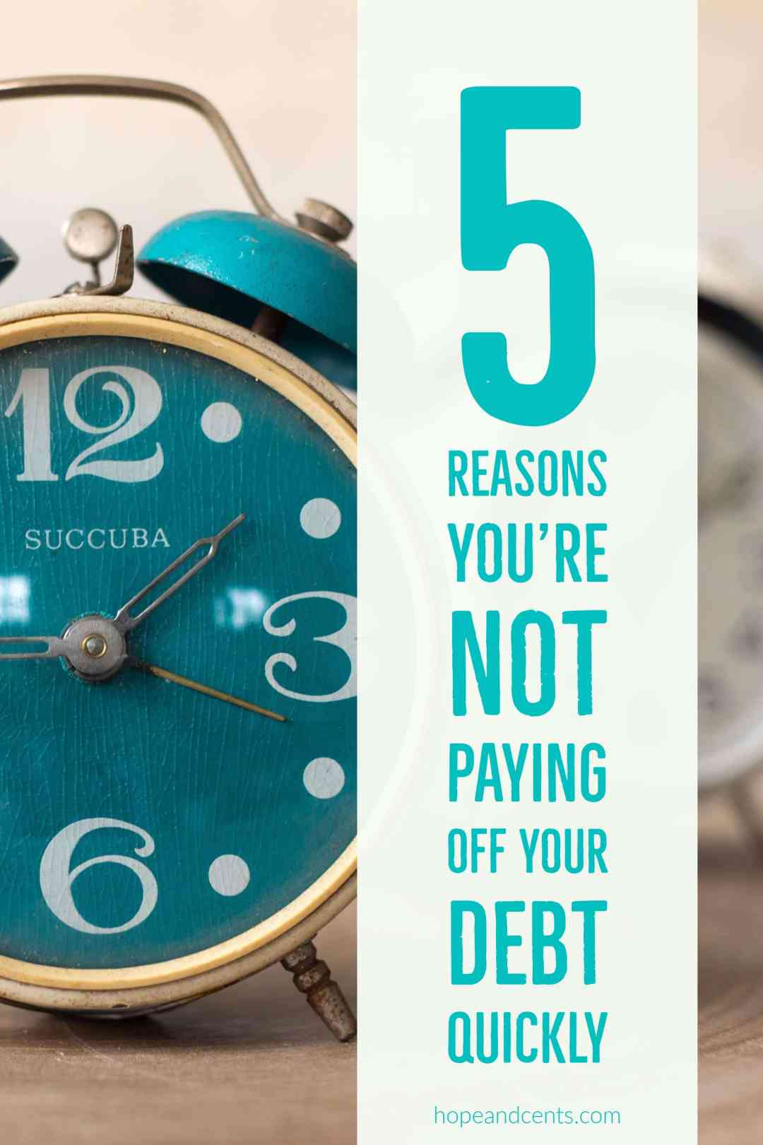 Are you working on paying off your debt but things aren't happening as quickly as you thought they would? There's a reason why. In fact, here's five.