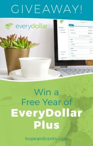 Giveaway! Win a Free Year of EveryDollar Plus
