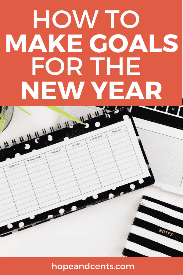Are you tired of not keeping your New Year's Resolutions? You'll love these tips to help you make goals instead of resolutions that you'll be more likely to keep.   #goals #personaldevelopment  #newyear #goalsetting
