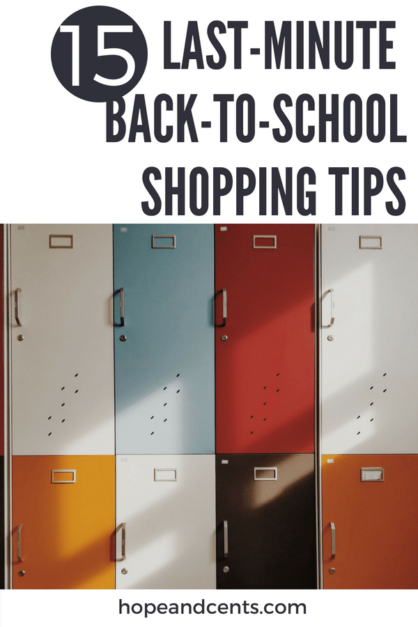 15 Last-Minute Tips for Back-to-School Shopping