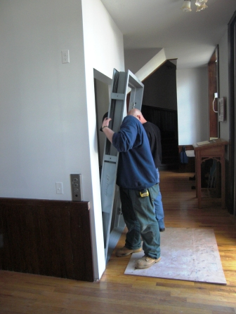 installing new door frame
