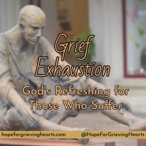 Grief and sorrow bring a different kind of exhaustion to your mind, body, and spirit. Sleep will not satisfy Grief Exhaustion, but God can refresh you.