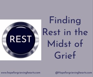 "Trying to rest in the mist of grief seems impossible. The pat answer is ""Go to God."" But HOW? Worship, Word, and Prayer are the keys that unlock Holy Rest."