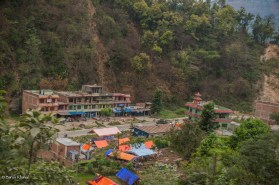 A small part of town near the bank of Karnali