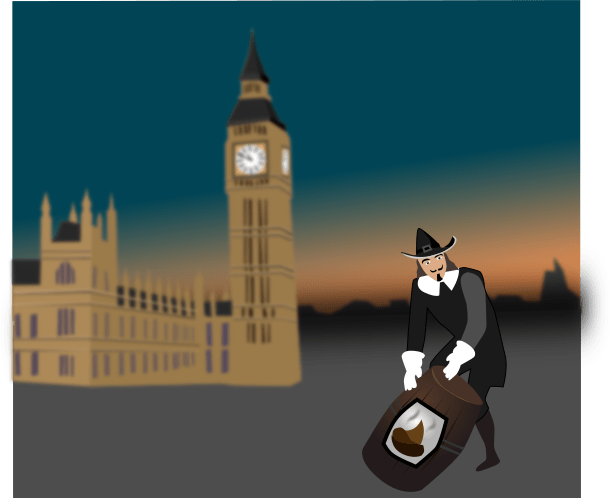 Guy Fawkes used barrels of poo to try and make things go boom