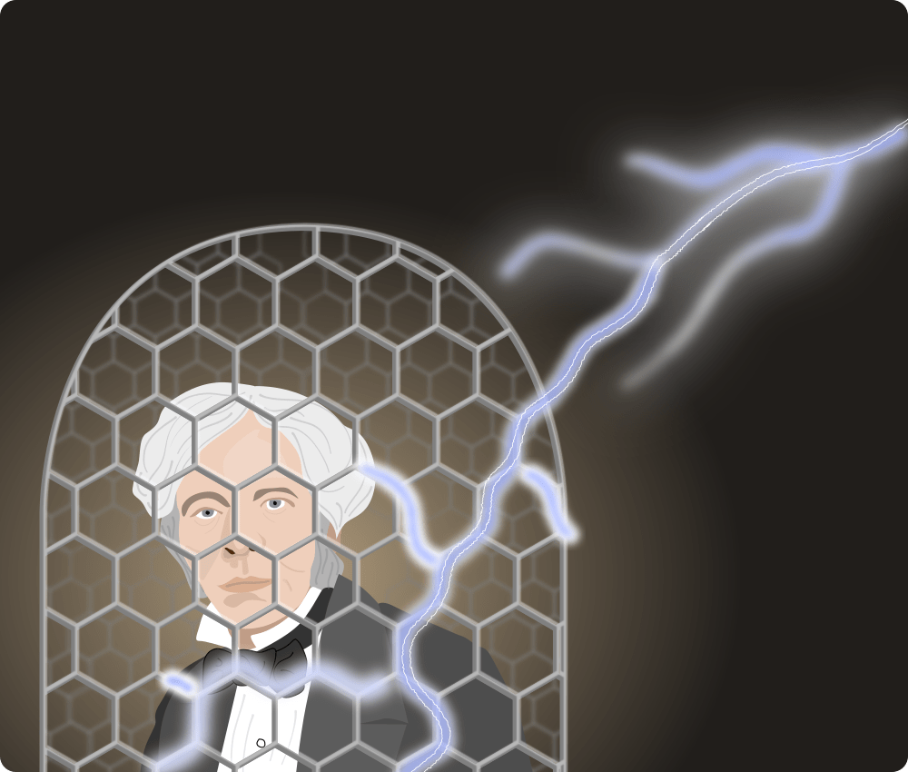 michael faraday in a faraday cage