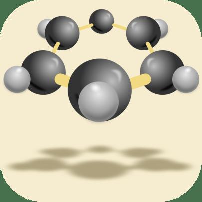 Benzene - a hexagonal shaped molecule