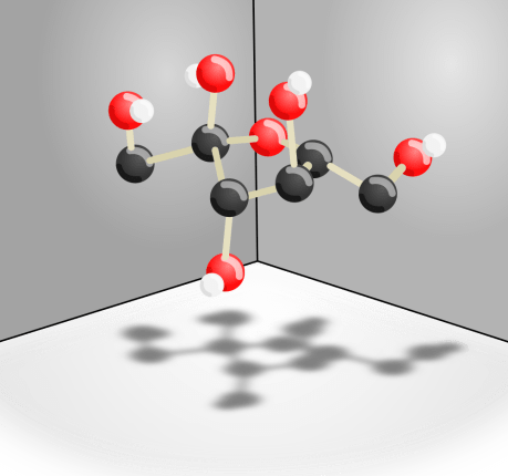 structure of fructose sugar