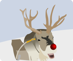 perhaps Santa shares the snacks in his diet with the reindeer