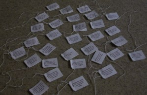 reading tea bag tags