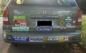 Bumper Sticker - Ithaca - Coexist