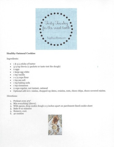 Tasty Tuesday Healthy Oatmeal Cookies2