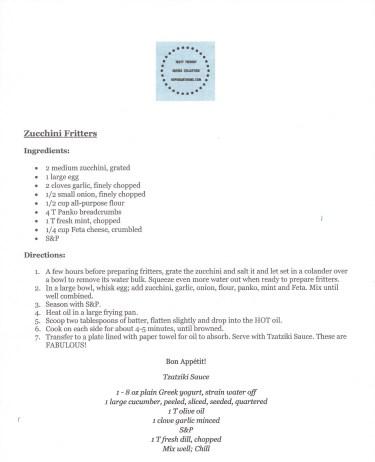 HHH Zucchini Fritters