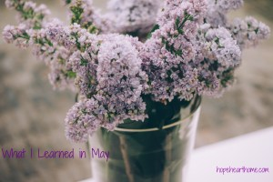 what i learned in may (2016)