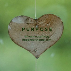 Five Minute Friday: PURPOSE