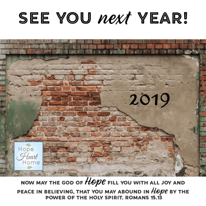 See you in 2019!