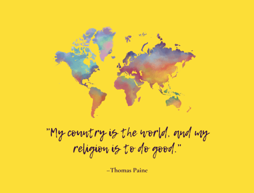 Be good to others - thomas paine