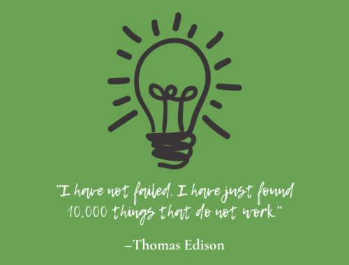 Thomas Edison - 10,000 things that have failed
