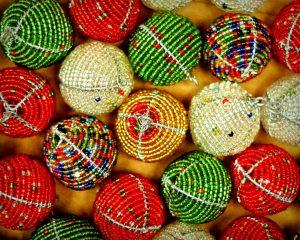 Beaded Ornaments Ball Shaped