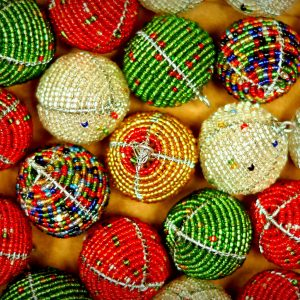 Beaded Ornaments Ball Shaped