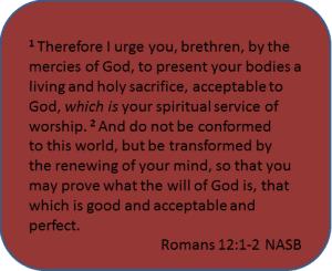Romans 12:1-2 Present Your Body