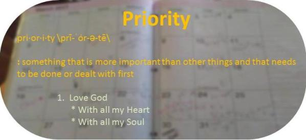 Love God with my Soul