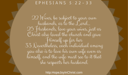 Ephesians 5_22-33 Biblical Wifehood, Christian Marriage, Love does not act unbecoming, Love and Respect