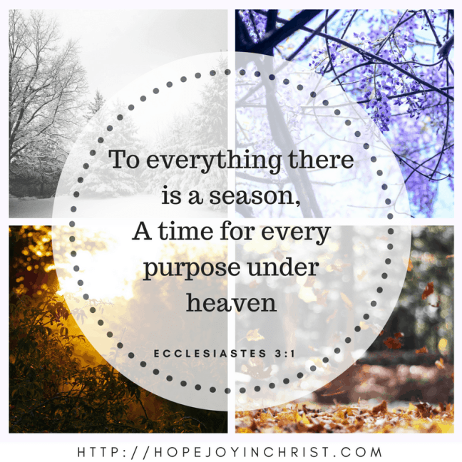 Ecclesiastes 3:1 A season for everything
