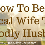How To Be a Biblical Wife To an Ungodly Husband