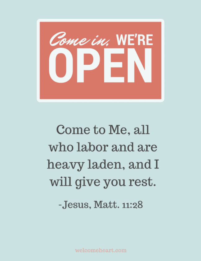 Matthew 11:18 Come to Me, All Who Labor and are heavy laden