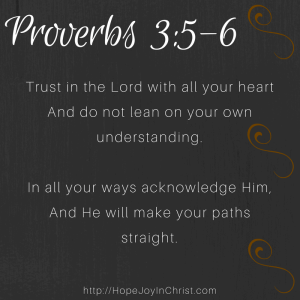 Proverbs 3:5-6 Trust in the Lord with all your heart (IG)