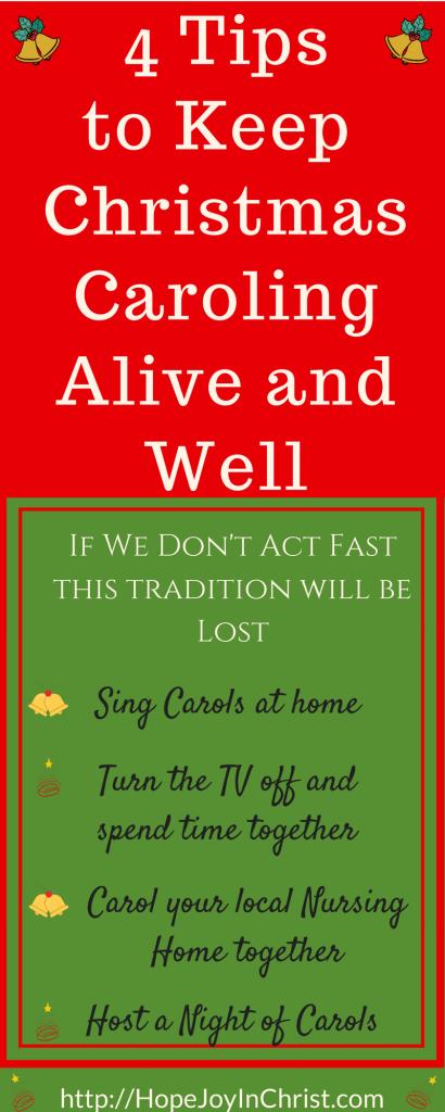 4 Tips to Keep Christmas Caroling Alive and Well - Free Printable Christmas Carol Lyrics (#FreePrintable #ChristmasCarol #HolidayIdeas #ChristCenteredChristmas)