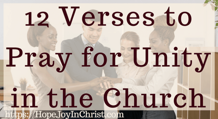 12 Verses to Pray for Unity in the Church FtImg #ChurchUnity #ChurchUnityquotes #ChurchUnityideas #ChurchUnityGod #ChurchUnityVerses #Prayerquotes #PrayerWarrior