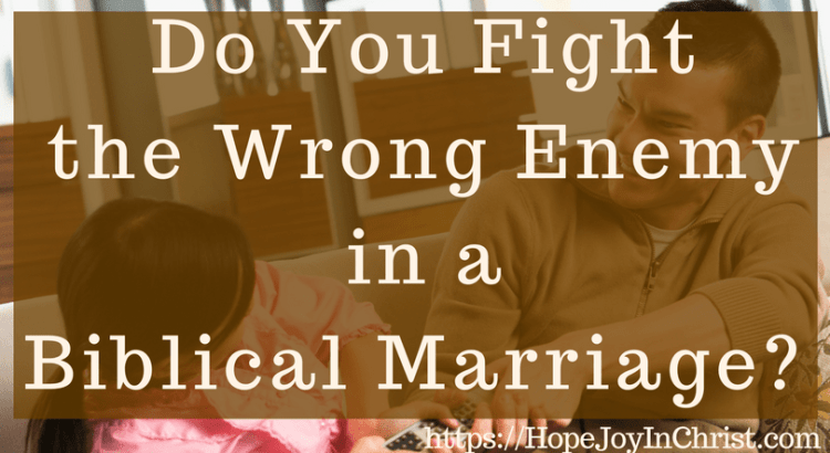 Do You Fight the Wrong Enemy in a Biblical Marriage FtImg #FighForMarriage #FightInMarriage #EnemyInMarriage #Prayer #ChristianMarriageAdvice #biblicalMarriage #ChristianMarriage #RelationshipHelp #FindingHopeandJoyinMyMarriage #ReclaimingHopeandJoy #ChristianLiving)