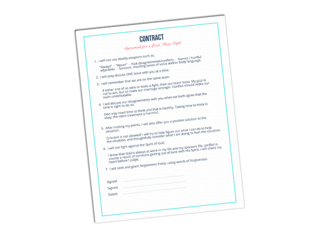 Fight Contract #ConflictInMarriage #Christianmarriage #CommunicationTips #ConflictTips #RelationshipTips #Christianmarriage #CouplesFight #MarriageFight