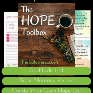 My Hope Toolbox Printable Kit for Depression & Sadness. Refresh your spirit and find encouragement with this beautifully designed printable kit for depression & sadness, My Hope Toolbox, which you can download now. Depression and sadness hit hard, yet God offers us peace. This tool puts resources you need for wellness right at your fingertips.#Giveaway #ChristianBooks #BibleStudy #ChristianMarriage #JoyInMarriage