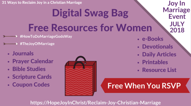 Reclaim joy in a christian marriage giveaway page swag bag marriageevent eventswagbag swagbagforwomen chrisianmarriage joyofmarriage relcaimjoyinmarriage biblicalmarriage fandeluxe Gallery