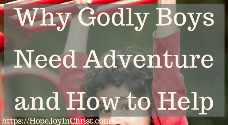 Why Godly Boys Need Adventure and How to Help FtImg #RaisingBoys #RaisingBoysquotes #RaisingBoystobemen #RaisingchristianBoys #MomsRaisingBoys #RaisingBoysParenting #RaisinggodlyBoys #boysneedadventure #WildAtHeart