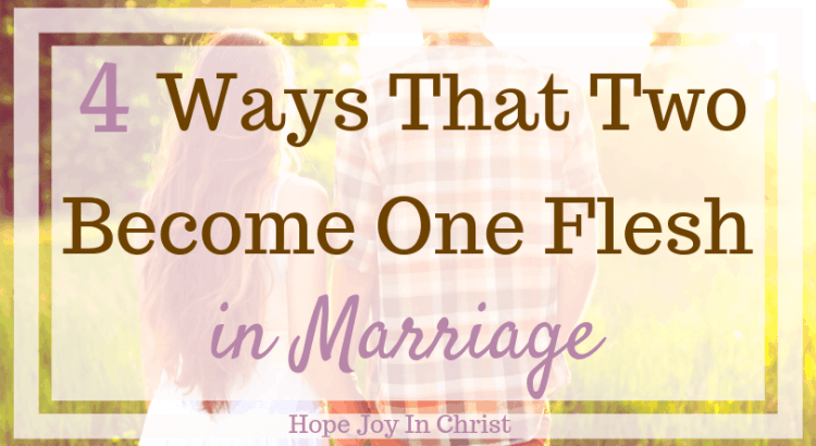 4 Ways That Two Become One Flesh in Marriage How to become one flesh in marriage. one flesh marriage. Unity in marriage. Oneness in marriage. Oneness in marriage couple oneness in relationships. Hope for marriage. Christian Marriage. Godly marriage. Christian Marriage advice #OnenessInMarriage #ChristianMarriage #HopeJoyInChrist
