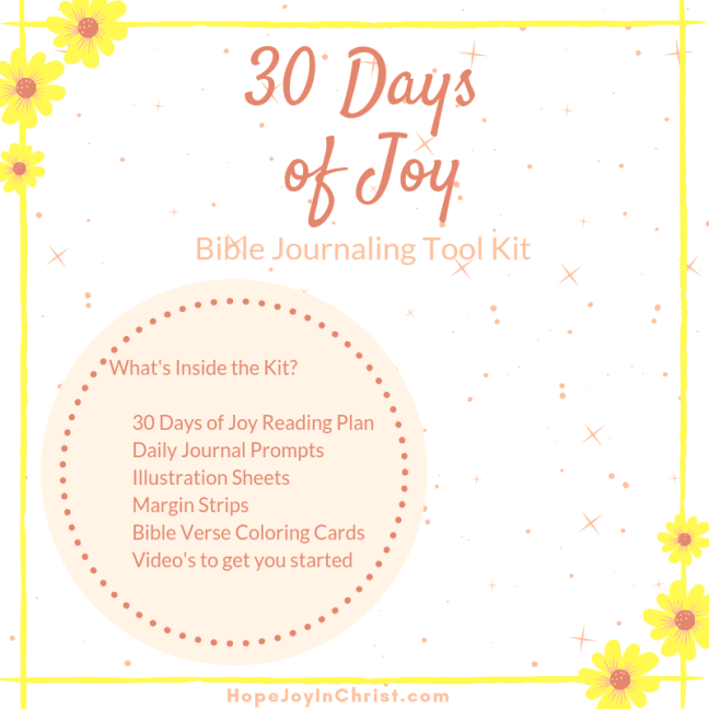 Joy Bible Journaling starter Kit Sq, Bible journaling for beginners, Bible journaling scripture study, Bible jounrnaling printables #BibleJournaling #HopeJoyinChrist