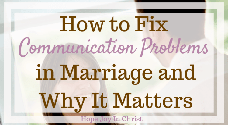 Marriage communication problems