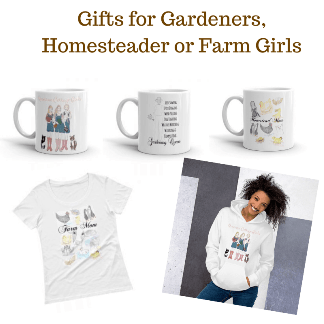 Gifts for Gardeners, Homesteader or Farm Girls from https://rosevinecottagegirls.com/shop-rosevine-cottage-girls