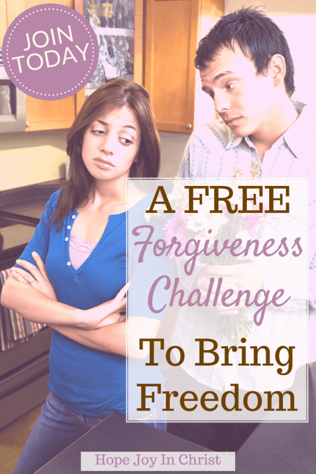 A FREE Forgiveness Challenge To Bring Freedom PinIt, Forgiveness challenge, 21 day forgiveness challenge, the forgiveness challenge, forgiveness quotes, the book of forgiving, 30 day forgiveness challenge, marriage advice, Christian marriage advice #Forgiveness #hopejoyinchrist