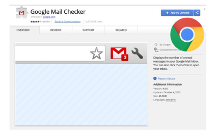 Google Mail Checker Extension
