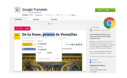 Google Translate Extension