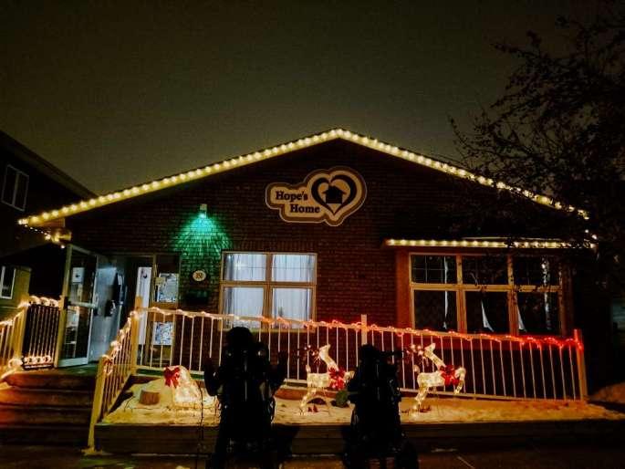 Christmas spirit Hopes Home