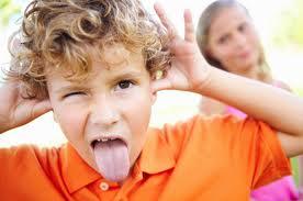 Kindergarten Boy Making a Face