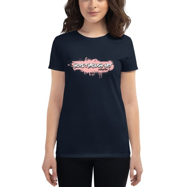 womens fashion fit t shirt navy front 602ae56a60b88